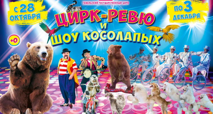 In Gomel State Circus, October 28 - December 3, 2017 : Circus Revue and the show of bears